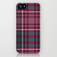 Fall Plaid Maroon Pattern iPhone & iPod Case by Kate