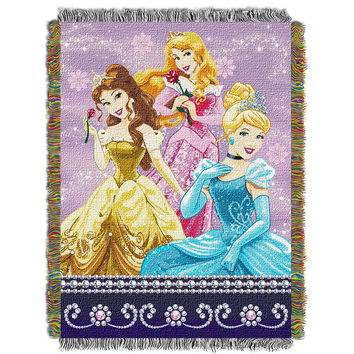 Disney Princess Sparkle Dream  Woven Tapestry Throw (48inx60in)
