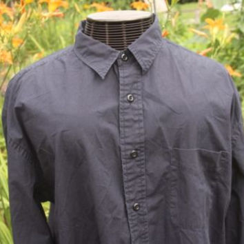 American Eagle Outfitters Navy Long Sleeve Button Up Shirt Men's Size XLarge