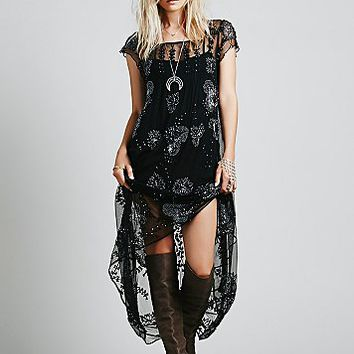 Free People Womens Journey Embellished Slip