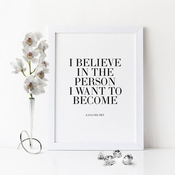 Best music quote poster products on wanelo printable artlana del rey lyrics loveinspirational quotei believemusic bookmarktalkfo Image collections