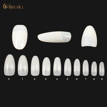 Professional 500Pcs/Pack French Nail Art Tips Oval Half Cover Fake Nail Tips Natural Artificial Salon Manicure Decorative Tools