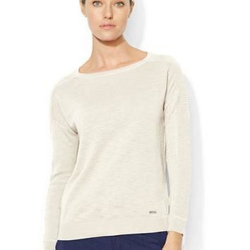 Lauren Ralph Lauren Cotton Ballet Neck Sweater