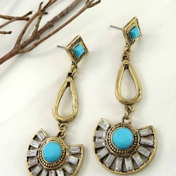 Boho meets Glam earrings