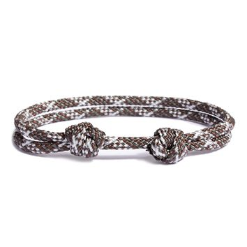 """Canopy"" Double Knot Cord Bracelet for Men"