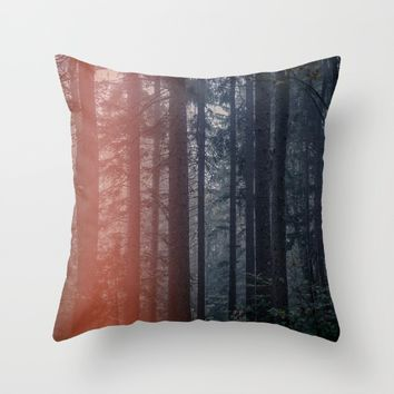 Mystic Woods Throw Pillow by aljahorvat
