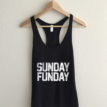 Sunday Funday Dirty Vintage  Racerback Tank Top