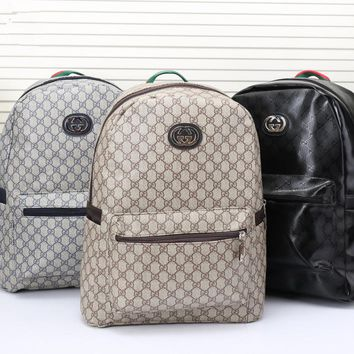 """Gucci"" Men Casual Fashion Simple Classic Print Backpack Large Capacity Travel Double Shoulder Bag"