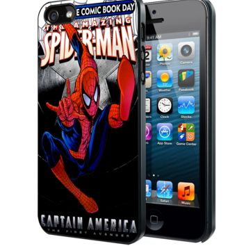 The Amazing Spiderman of Captain America Samsung Galaxy S3 S4 S5 S6 S6 Edge (Mini) Note 2 4 , LG G2 G3, HTC One X S M7 M8 M9 ,Sony Experia Z1 Z2 Case