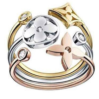 AMAZING MULTI COLOR 925 STERLING SILVER ENGAGEMENT AND WEDDING RING