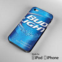 Bud light Beer A0143 iPhone 4 4S 5 5S 5C 6, iPod Touch 4 5 Cases