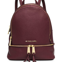Rhea Small Zip Backpack, Merlot - MICHAEL Michael Kors