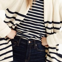 J.Crew Stripe Long Open Cardigan | Nordstrom