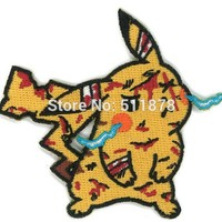 DragonBall Z Dragon Ball Battle Damage Pikachu Pokemon Movie TV Series Costume Embroidered Emblem sew on iron on patch Badge