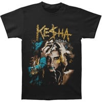 Kesha Men's  CD Cover 2011 Tour T-shirt Black