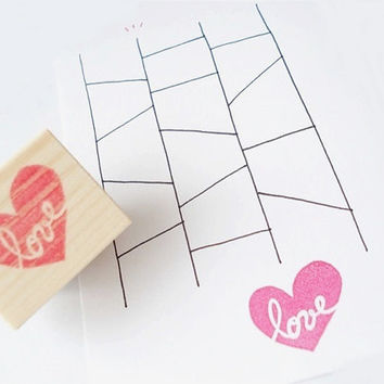Love heart stamp, Wedding invitation, DIY wedding stamp, passion red love, Love letter, Card decoration supplies, Wood