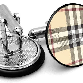 Burberry Nova Check Cufflinks