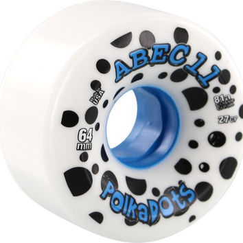 Abec11 Polka Dots 64mm 81a White/Blue