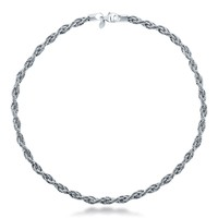 Sterling Silver Twisted Omega Rope Choker Necklace 6mm 16 inchBe the first to write a reviewSKU# C061-SSR-130-16