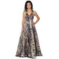 muddy girl realtree  max-4 wetland camo prom dresses 2017 halter camouflage bridal gowns  vestido de noiva   custom make