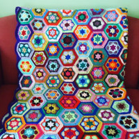 Crochet Blanket, Afgan Blanket, Crochet Throw, Multicolour Crochet Blanket, Granny Square Blanket