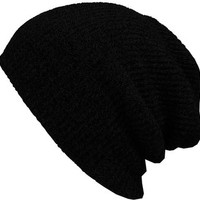 KBETHOS W-10 Heather Slouchy Beanie Skull Cap Hat - BLACK
