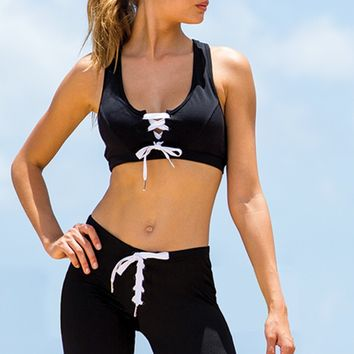 Sauvage Athletic Lace-Up Crop Top | Highend Crop Top