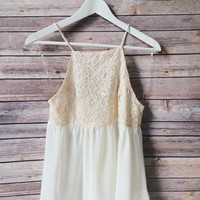 Juliet Ivory Cream Tank