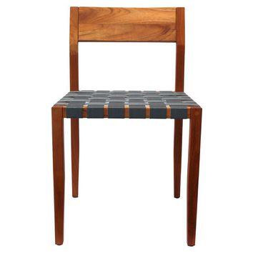 Pre-owned Design Within Reach Rusa Teak Side Chair