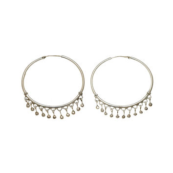 Chand Bali Large Sterling Silver Hoop Earring
