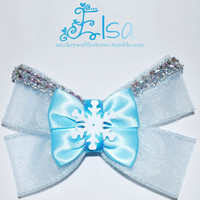 Elsa Hair Bow by MickeyWaffles on Etsy