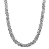 Sterling Silver 6.3-mm Byzantine Necklace (18 Inch)
