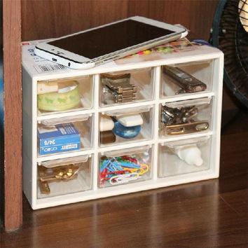 plastic storage box with drawers Acrylic Cosmetic Organizer Drawer Makeup Case Storage Insert Holder Box