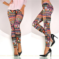 Print Winter Hot Sale Geometric Leggings [9328128644]