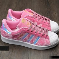 """Adidas"" SUPERSTAR Fashion Winter Suede Pink Sneakers"