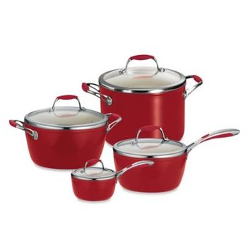 Tramontina® Gourmet Ceramica Deluxe Covered Saucepan in Red