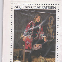 Sewing pattern for Afghan Coat women's casual coat made from afghan throw blanket one size fits most Stephanie's Collection SMC-200 UNCUT