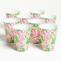 Lilly Pulitzer® Floral Print Reusable Party Tumblers (Set of 8) | Nordstrom