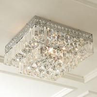 Five-Light Crystal Ceiling Fixture