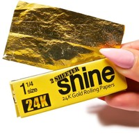 Shine Papers Shine 24k Gold Papers- Box of 36 2-Sheet Pack One