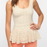 Urban Outfitters - Pins and Needles Daisy Lace Peplum Tank Top