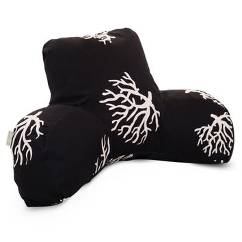 Black Coral Reading Pillow