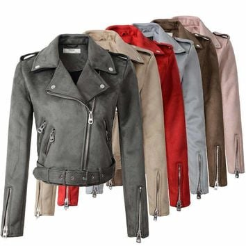 Womens suede Faux-Leather Jackets
