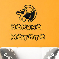 Wall Decals Quote Decal Hakuna Matata The Lion King Sticker Vinyl Decals Wall Decor Murals Z349