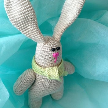 crochet bunny rabbit, amigurumi stuffed toy, baby rabbit, handmade toy, cotton yarn rabbit, gift for boy or girl