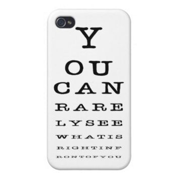 Funny Eye Chart Test Novelty iPhone Case iPhone 4/4S Cases