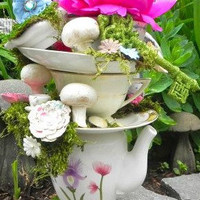 Stackable Teacups & Teapot Centerpiece - Alice in Wonderland/Mad Hatter Tea Party/UnBirthday