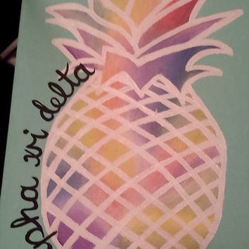 Custom Sorority Pineapple Canvas