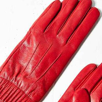 Leather Ruched Glove - Urban Outfitters