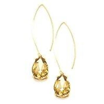 Uniklook Chic Urban Austrian Crystal Long Fish Hook Hoop Gift Idea Earrings Affordable Jewelry